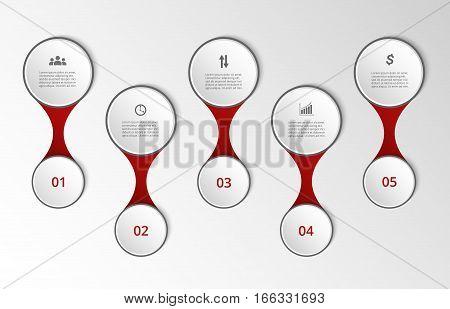 Timeline Vector Template