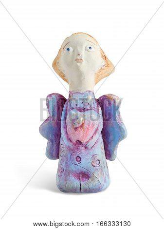 Closeup painting figurine