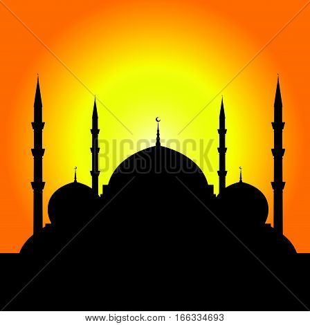 Istanbul Mosque Silhouette Illustration Part Two