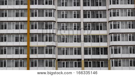 Apartment building, social housing, apartments, residential area, fragment of modern building, architecture background