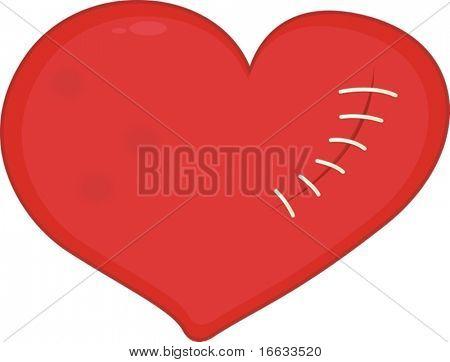 ilustração do símbolo de coração branco