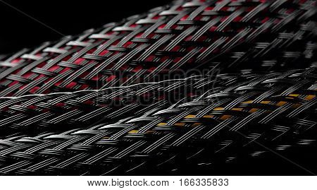 Abstract Background Of Cable From Computer Power Supply Unit