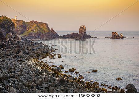 Jeju-do Seondol rock Seopjikoji, Jeju Island, South Korea