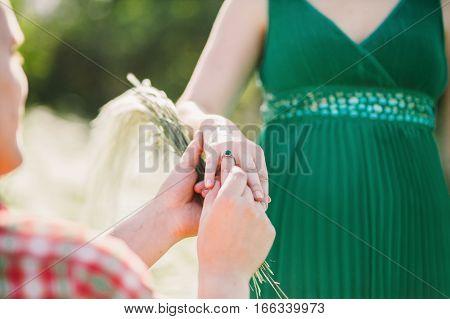 Man Making Marriage Proposal