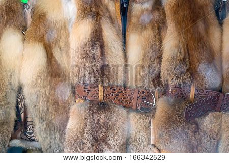 Beautiful garments made of excellent fox furs