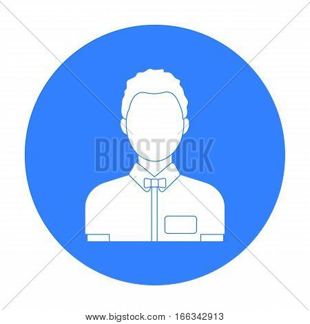 Boxing referee icon in blue style isolated on white background. Boxing symbol vector illustration.