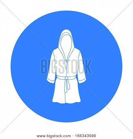 Boxing robe icon in blue style isolated on white background. Boxing symbol vector illustration.
