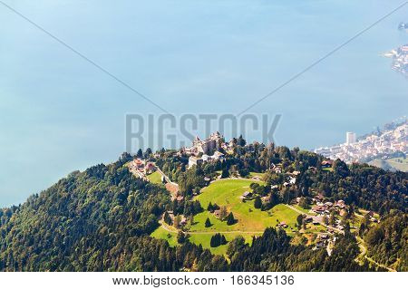 Aerial view from the Rochers de Naye Switzerland