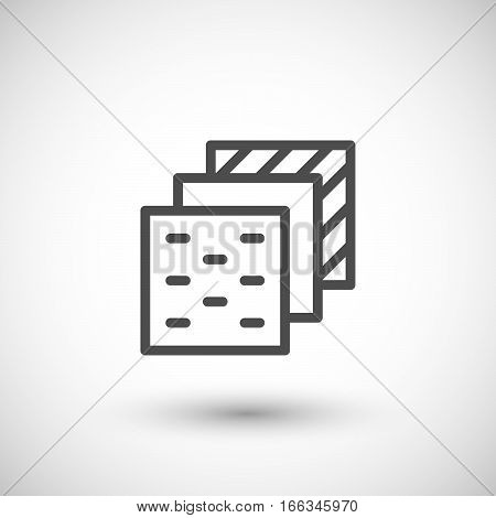 Insulation layers line icon isolated on grey. Vector illustration