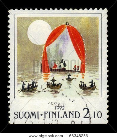 FINLAND - CIRCA 1992: a stamp printed in Finland shows illustration to the children's picture book