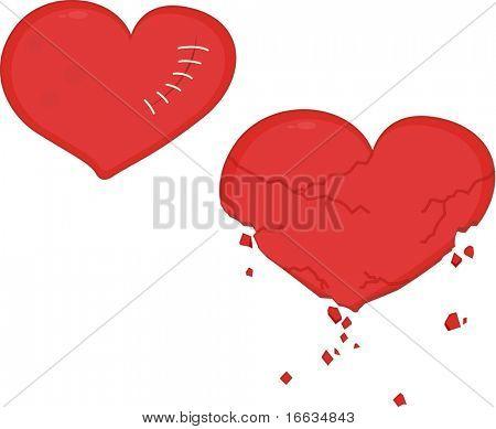 ilustração do símbolo de corações em branco