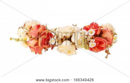 Flower Crown isolated on white background clipping path