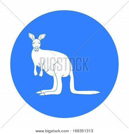 Kangaroo icon in blue design isolated on white background. Australia symbol stock vector illustration.