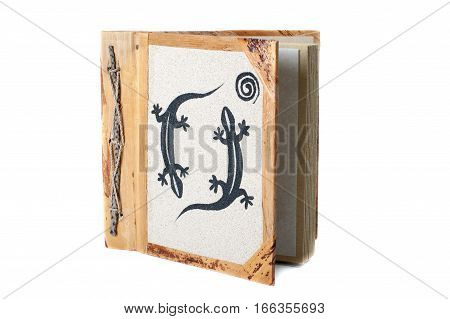 Photo Album With Decoration Isolated On The White Background