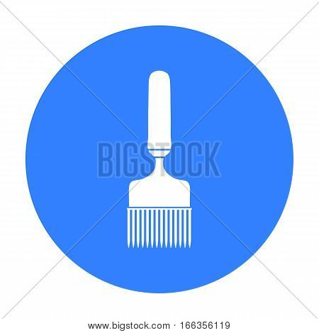 Uncapping fork icon in blue style isolated on white background. Apiary symbol vector illustration