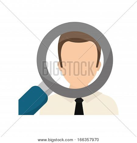 Find a job concept icon vector illustration graphic design
