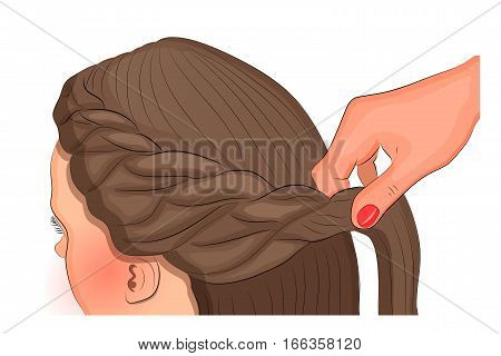 vector illustration for theme and fashion publications. hairdresser's art