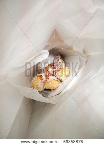 Fresh, crisp cinnamon sticks in a bag from Reading Terminal Market.
