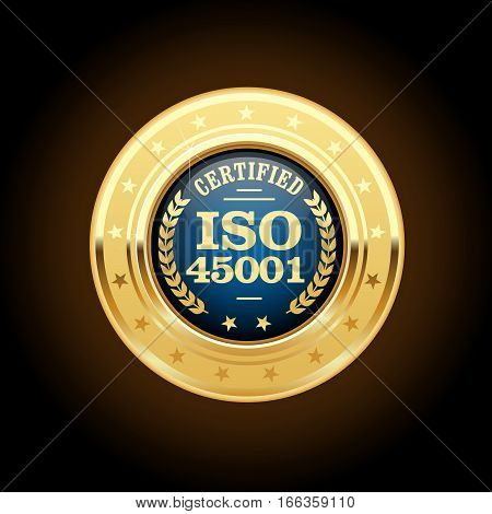 ISO 45001 standard medal - occupational health and safety