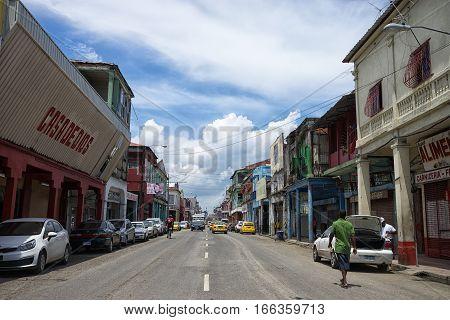 June 9 2016 Colon Panama: colon is considered a high crime rate dangerous port town