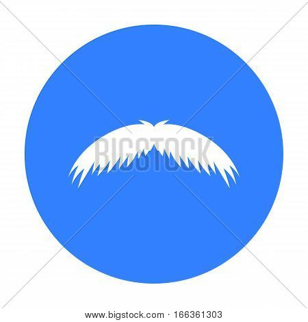 Man s mustache icon in blue style isolated on white background. Beard symbol vector illustration.