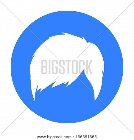 Man s hairstyle icon in blue style isolated on white background. Beard symbol vector illustration.