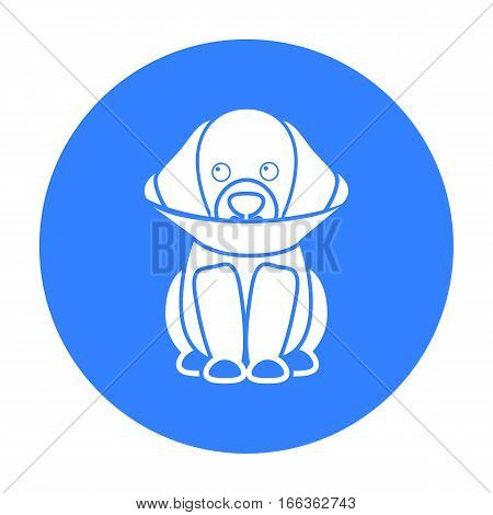 Sick dog vector illustration icon in blue design
