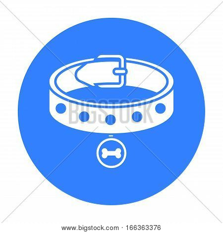 Dog collar vector illustration icon in blue design