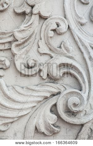 Molding on the wall frieze on the wall, a bas-relief, wall decoration, background modeling