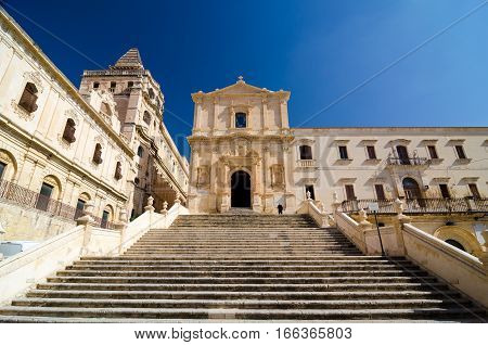 Church Of Saint Francis Immaculate In The Noto, Sicily, Italy.