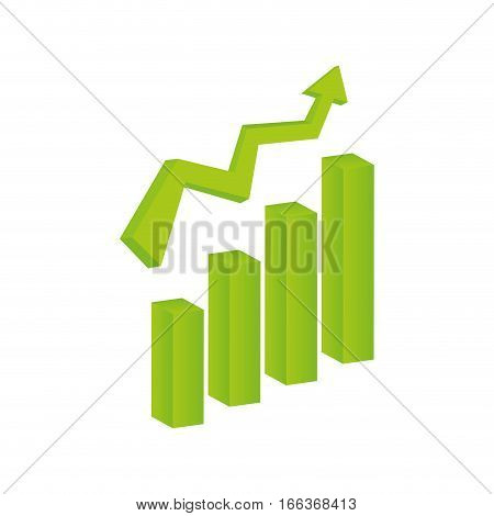 Growth up statistics icon vector illustration graphic design