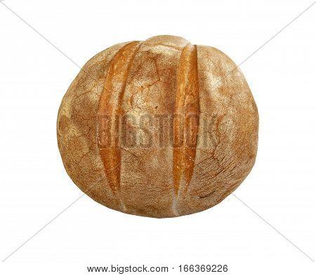 Freshly baked Italian Bread on a white background
