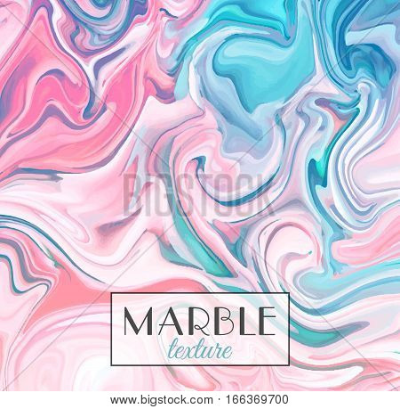 Marbling. Pink and blue Marble texture. Vector abstract colorful background. Paint splash. Colorful fluid. Vector illustration eps10