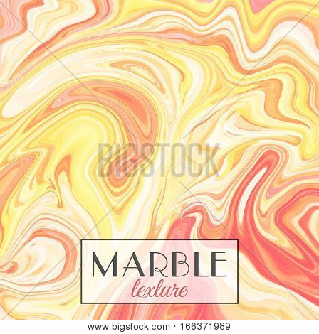 Marbling. Yellow Marble texture. Vector abstract colorful background. Paint splash. Colorful fluid. Vector illustration eps10