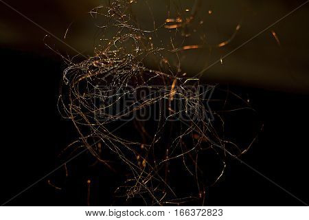 drawings wire. graphic metal net pattern protection