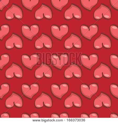 vector seamless heart pattern love background for weeding invitation or valentines day greeting cards and catroon banners.