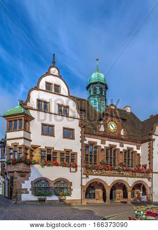 OLd Freiburg City Hall (Rathaus) was completed in 1559 Freiburg im Breisgau Germany