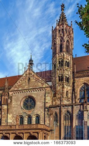 Freiburg Minster is the cathedral of Freiburg im Breisgau Germany.