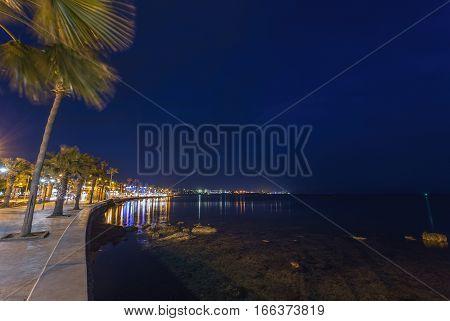 Evening photo in Odos Poseidonos, Paphos, Cyprus