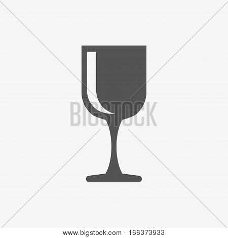 wineglass icon stock vector illustration flat design