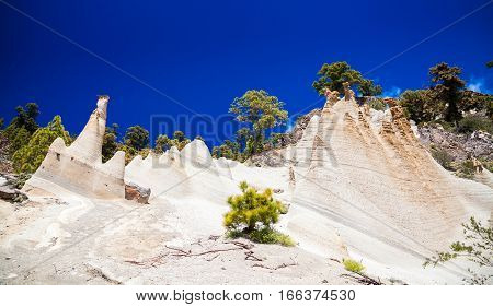 amazing landscape of Paisaje Lunar with great erosion in Tenerife Canary Islands Spain