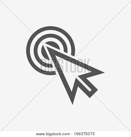 click icon stock vector illustration flat design