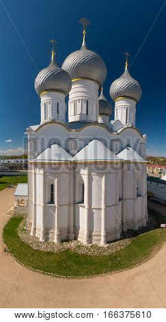 Rostov Kremlin. Domes Of The Assumption Cathedral.