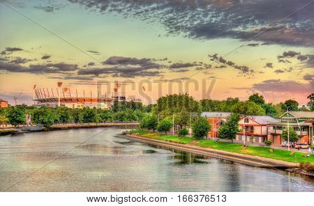 The Yarra River with the Melbourne Cricket Ground in the background - Australia
