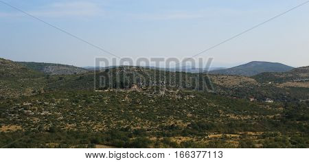 It is highland landscape of Dalmatia the geographical part of Croatia.