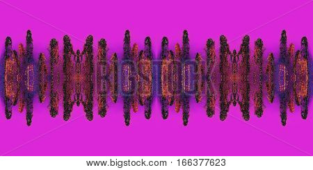 Multicolored abstract splash waveform pattern on pink background.Digitally generated image.