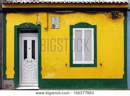 House in Ponta Delgada, Azores island, Portugal