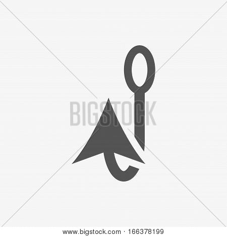 fishing hook icon stock vector illustration flat design