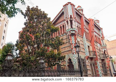 Casa Vicens Is A Modernist Building In Barcelona, Catalonia, Spain