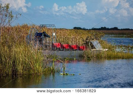 Boat Tour Through The Marsh In The Everglades National Park, Florida
